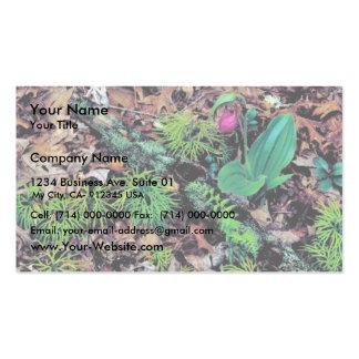 El deslizador de señora rosada tarjetas de visita