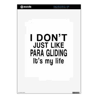 EL DESLIZAMIENTO DE PARA ES MI VIDA CALCOMANÍAS PARA EL iPad 2