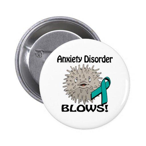 El desorden de ansiedad sopla diseño de la concien pin redondo 5 cm