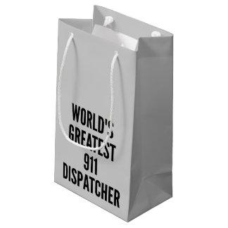 El despachador más grande 911 de los mundos bolsa de regalo pequeña
