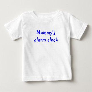El despertador de la mamá playera de bebé