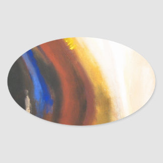 El despertar alegre (simbolismo espiritual pegatinas de ovaladas