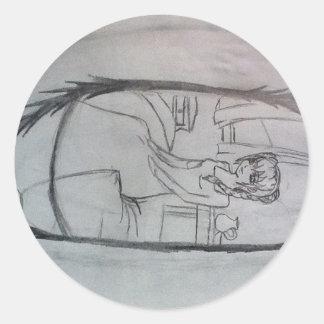 El despertar (lado) etiquetas redondas