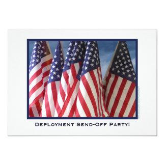 El despliegue Envía-Apagado el fiesta, banderas Invitación 12,7 X 17,8 Cm