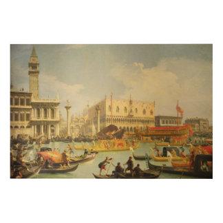 El desposorio del dux veneciano a Adriático Cuadro De Madera