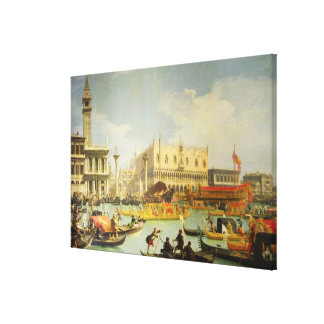 El desposorio del dux veneciano a Adriático Impresiones En Lienzo Estiradas