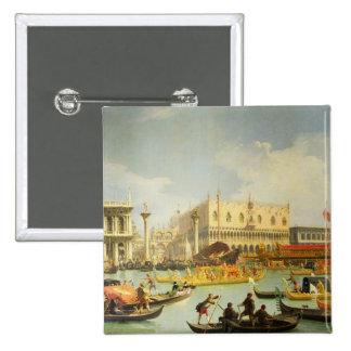 El desposorio del dux veneciano a Adriático Pin Cuadrado