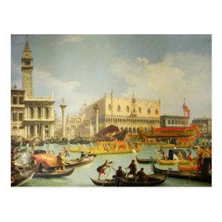 El desposorio del dux veneciano a Adriático Tarjetas Postales