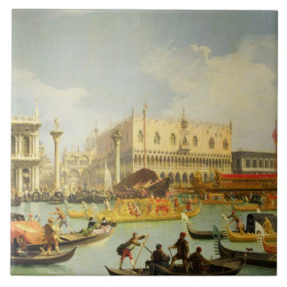 El desposorio del dux veneciano azulejo cuadrado grande