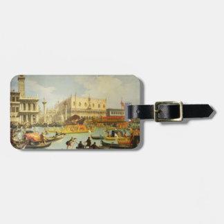 El desposorio del dux veneciano etiquetas de equipaje