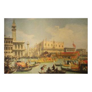 El desposorio del dux veneciano impresión en madera