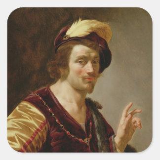 El desposorio: El novio, c.1630 Pegatina Cuadrada
