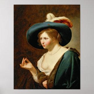El desposorio: La novia, c.1630 Póster