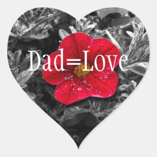 El destacarse; El día de padre feliz Pegatina En Forma De Corazón