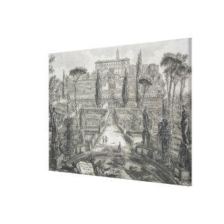 El d'Este del chalet en Tivoli (grabado) Impresiones En Lienzo Estiradas