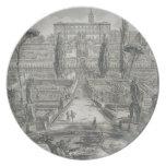 El d'Este del chalet en Tivoli (grabado) Platos De Comidas