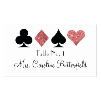 El destino Las Vegas brilló tarjeta color de rosa Tarjetas De Visita