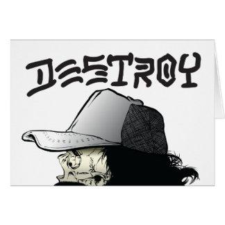 El destructor tarjeta de felicitación