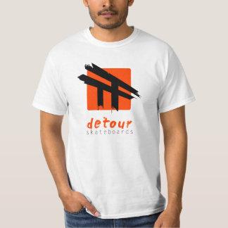 El desvío anda en monopatín camiseta del logotipo remera