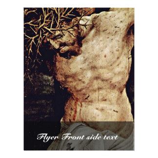 El detalle de la crucifixión de Grünewald Mathis G Flyer Personalizado