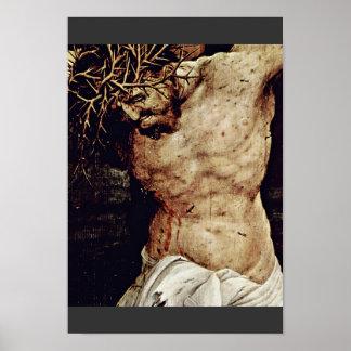 El detalle de la crucifixión de Grünewald Mathis G Posters