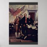 El detalle de la Declaración de Independencia por  Poster