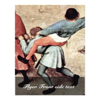 El detalle de los juegos de los niños por Bruegel  Tarjetas Publicitarias