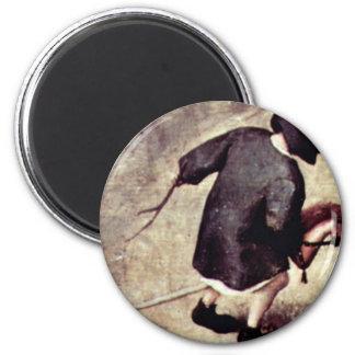 El detalle de los juegos de los niños por Bruegel Imán Redondo 5 Cm