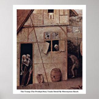El detalle de Tondo del vagabundo de Hieronymus Bo Impresiones