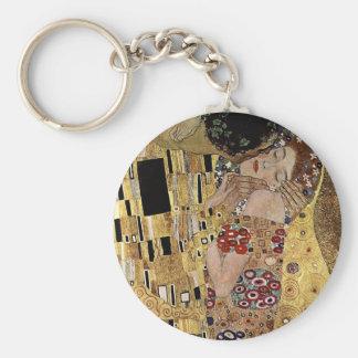 El detalle del beso de Gustavo Klimt (circa 1908) Llavero Redondo Tipo Pin
