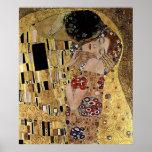 El detalle del beso de Gustavo Klimt (circa 1908) Posters