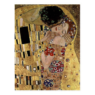 El detalle del beso de Gustavo Klimt (circa 1908) Tarjetas Postales