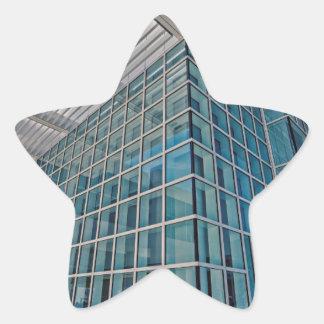 El detalle del este de centro del pabellón de pegatina en forma de estrella