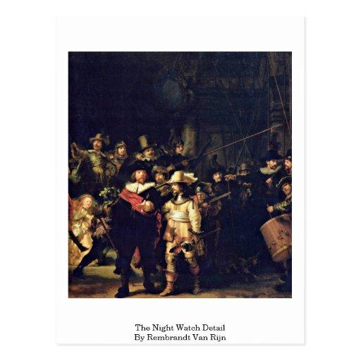 El detalle del guardia nocturna de Rembrandt Van R Postal