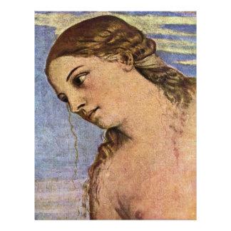 """El detalle divino del amor, por Ticiano Vecellio Folleto 8.5"""" X 11"""""""