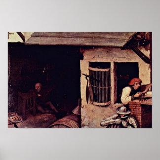 El detalle holandés de los proverbios por Bruegel  Impresiones
