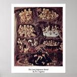 El detalle pasado del juicio por Fra Angelico Poster