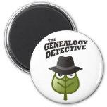 El detective de la genealogía imán para frigorífico