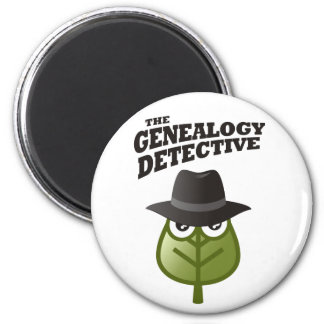 El detective de la genealogía imán redondo 5 cm