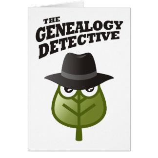 El detective de la genealogía tarjeta de felicitación