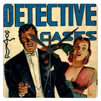 El detective encajona Comcis Reloj Cuadrado