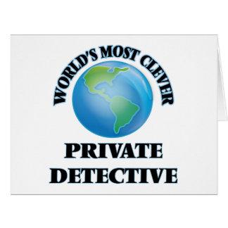 El detective privado más listo del mundo tarjetas