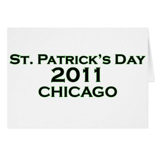 El día 2011 de St Patrick Tarjeton