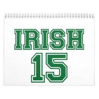 El día 2015 de St Patrick del irlandés Calendario De Pared