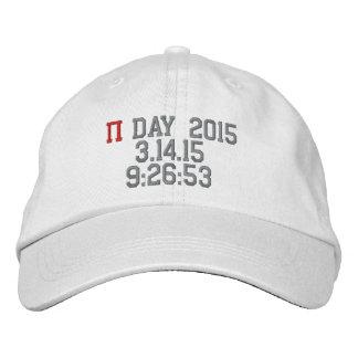 El día 2015 del pi personalizó el gorra ajustable gorra bordada
