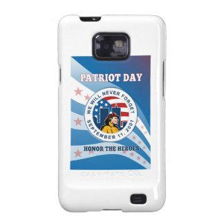 El día americano del patriota recuerda el poster 9 samsung galaxy SII carcasa