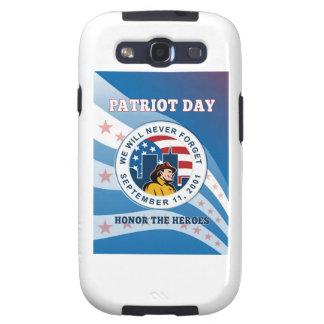 El día americano del patriota recuerda el poster 9 galaxy SIII cárcasa