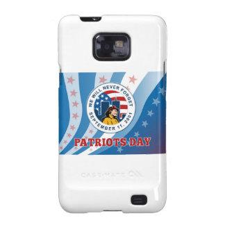 El día americano del patriota recuerda la tarjeta  galaxy SII fundas