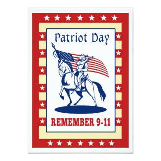 El día americano del patriota recuerda la tarjeta anuncio