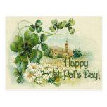 El día C de St Patrick del pueblo de la iglesia de Tarjetas Postales